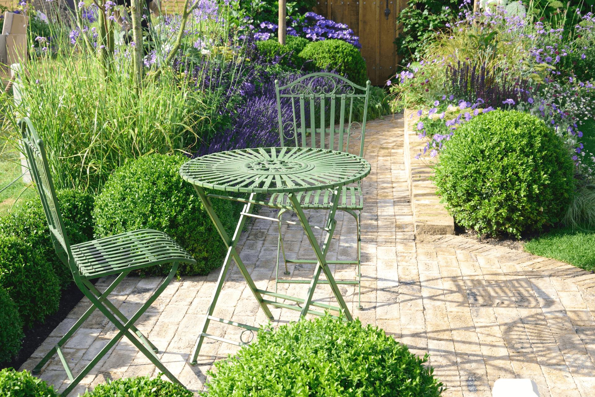 metal garden chairs