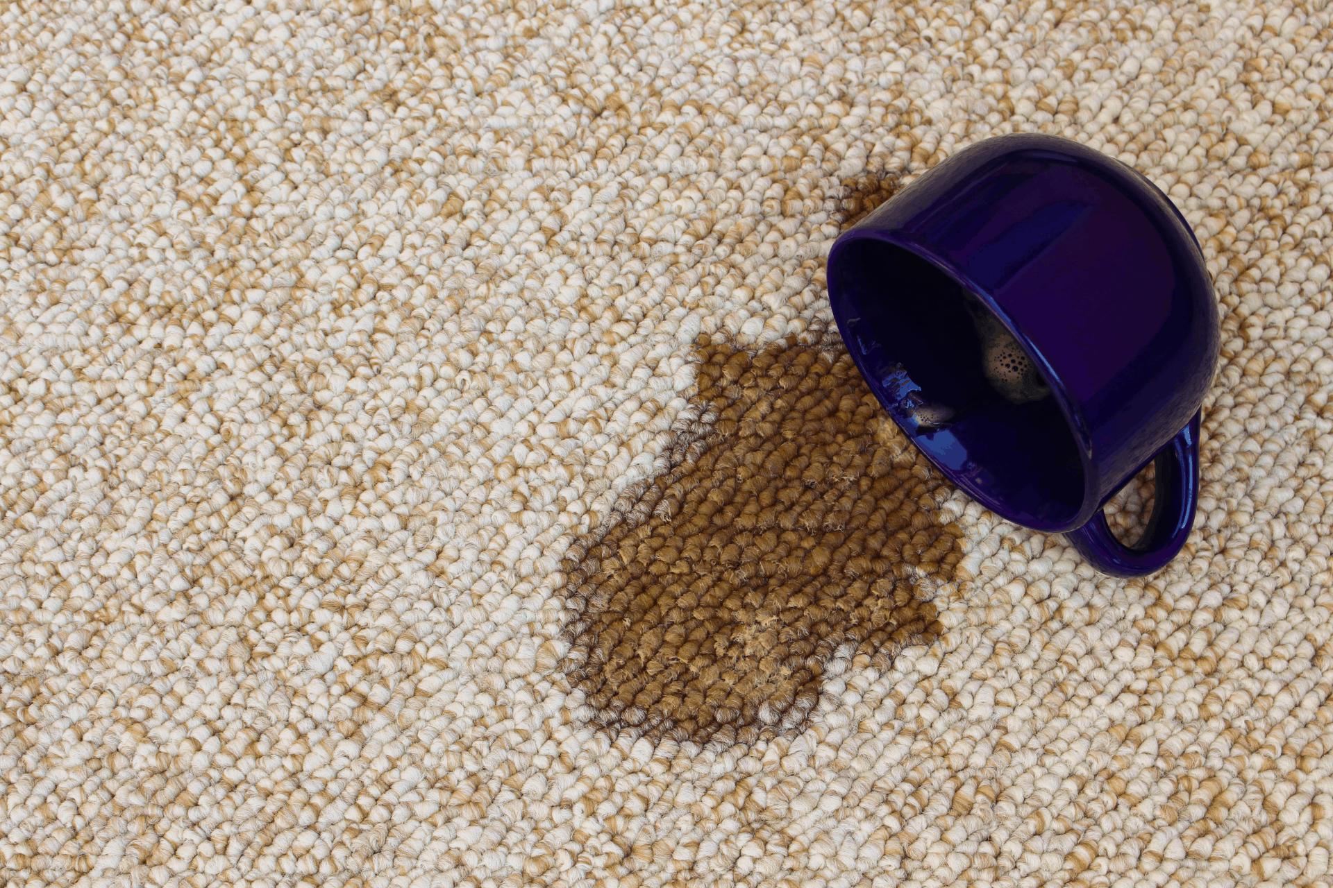 tea on carpet